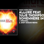 "Allure featuring Julie Thompson – ""Somewhere Inside"""